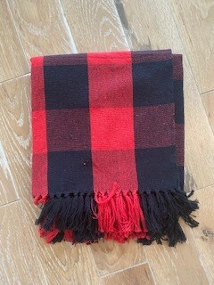 Red&Black Throw