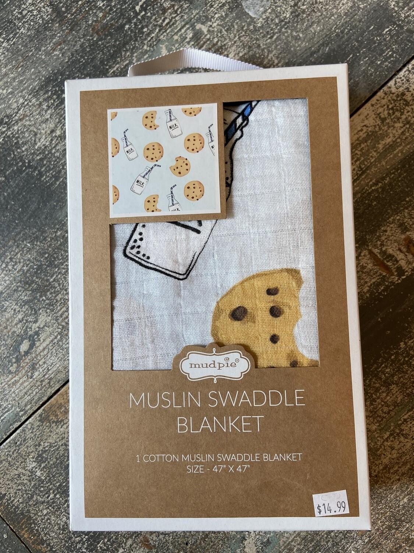 Blue Milk Muslin Swaddle