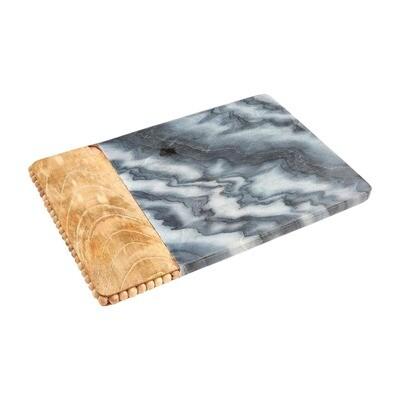 Gray Beaded Wood Marble Board