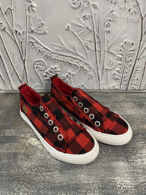Red Buffalo Check Kids Shoe