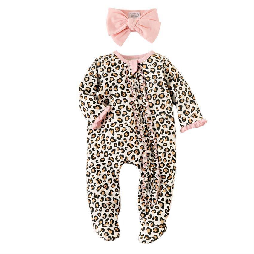Leopard Sleeper Onesie