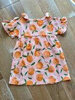 Orange Bow Dress 12-18m