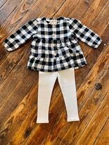 B&W Plaid Baby Outfit