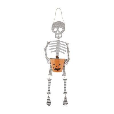 Tin Skeleton Candy Basket Hanger
