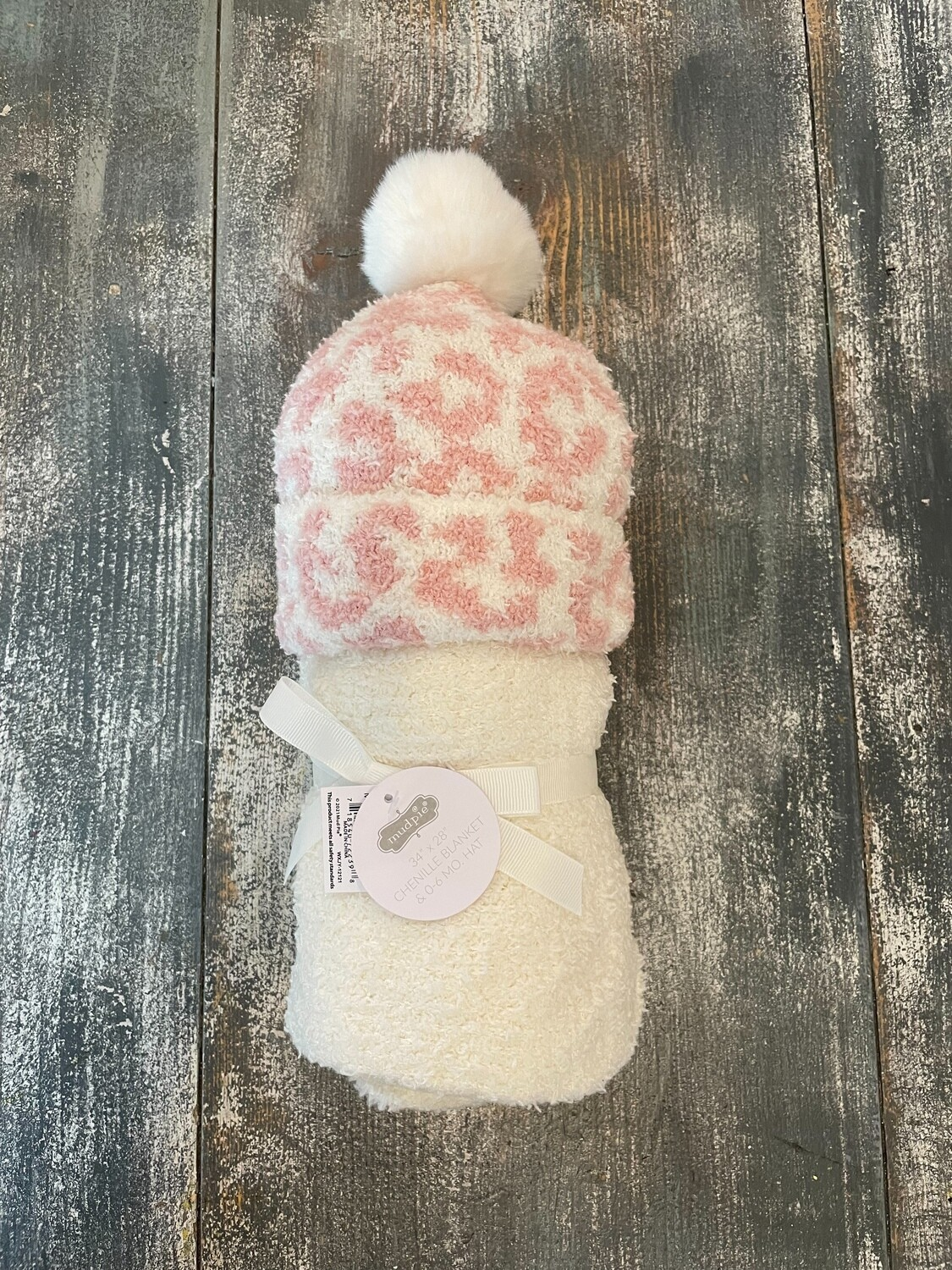 Ivory Blanket with Leopard Hat