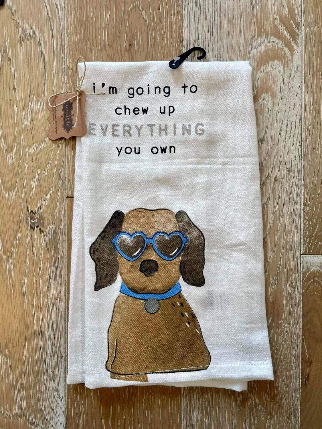 Chew Up Everything Dog Towel