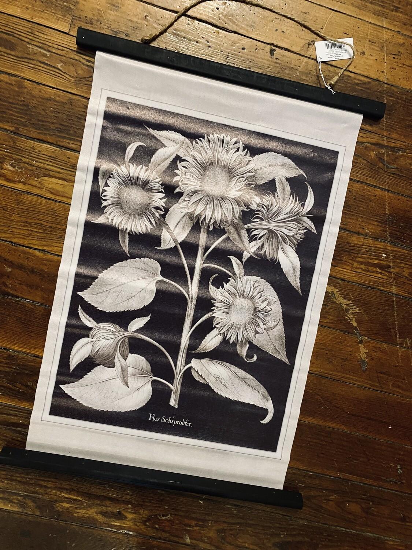 Printed Sunflower Scroll