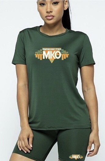 MKO Fitness Biker Short Set (Forest Green)