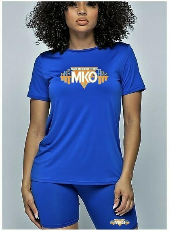 MKO Fitness Biker Short Set (Royal Blue)