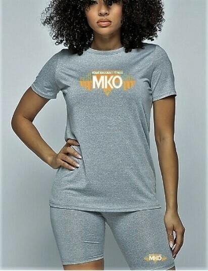 MKO Fitness Biker Short Set (Grey)