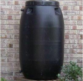 Upcycle Black 55 Gallon Rain Barrel
