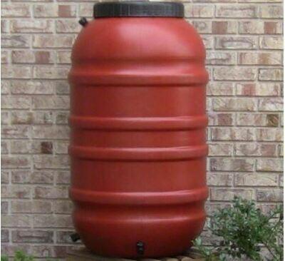 Upcycle Terra Cotta 55 Gallon Rain Barrel
