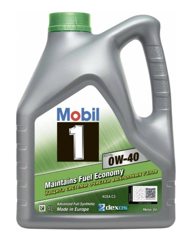 Моторное масло MOBIL 1 ESP X3 0W-40 синтетическое 4 л