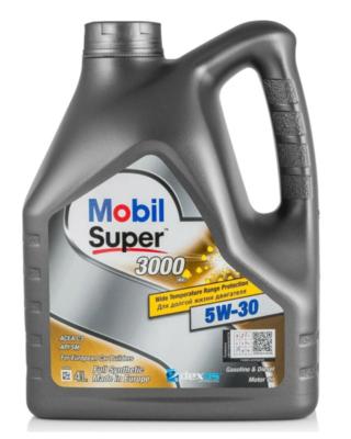 Моторное масло MOBIL Super 3000 XE 5W-30 синтетическое 4 л