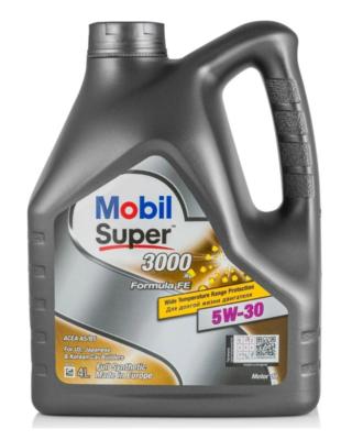 Синтетическое моторное масло MOBIL Super 3000 X1 Formula FE 5W-30 4 л