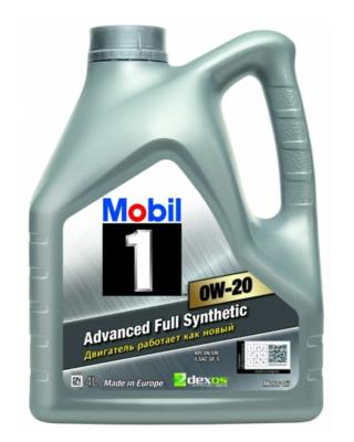 Моторное масло MOBIL 1 0W-20 синтетическое 4 л