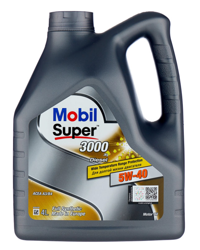 Моторное масло MOBIL Super 3000 X1 Diesel 5W-40 синтетическое 4 л