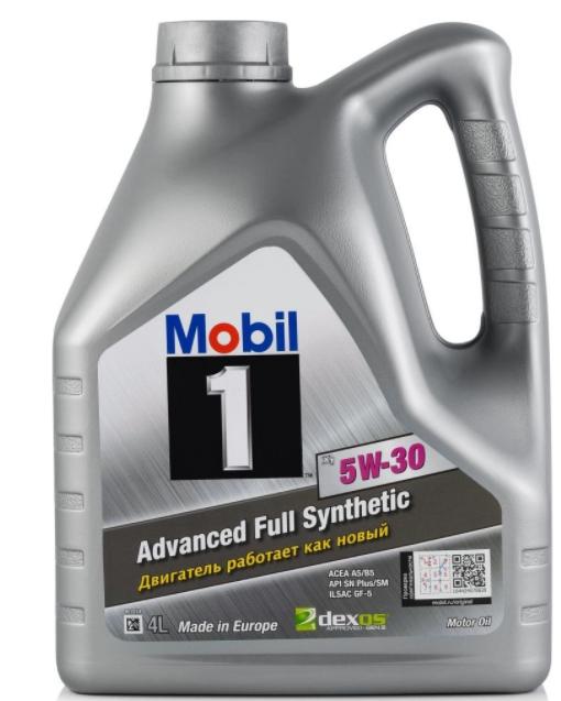 Моторное масло MOBIL 1 X1 5W-30 синтетическое 4 л