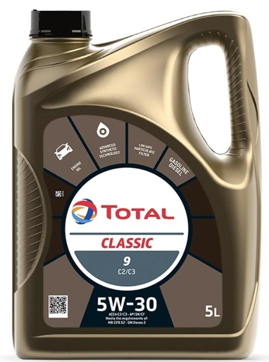 Моторное масло TOTAL Classic 9 C2/C3 5W-30 синтетическое 5 л