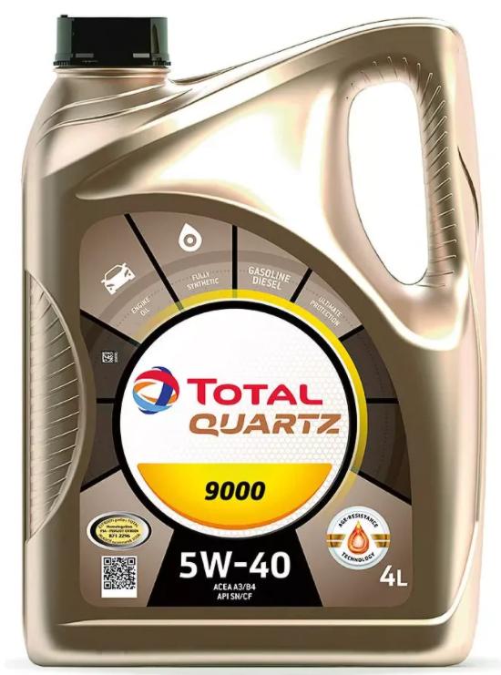 Синтетическое моторное масло TOTAL Quartz 9000 5W40 4 л