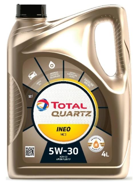 Моторное масло TOTAL Quartz INEO MC3 5W-30 синтетическое 4 л