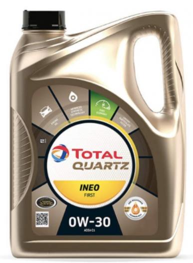 Моторное масло TOTAL Quartz INEO First 0W-30 синтетическое 4 л