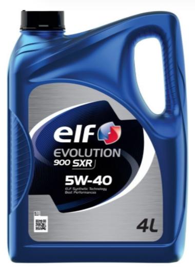 Синтетическое моторное масло ELF Evolution 900 SXR 5W-40 4 л
