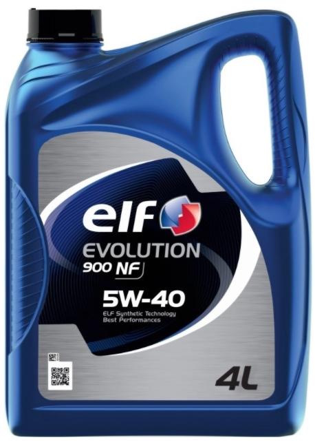 Синтетическое моторное масло ELF Evolution 900 NF 5W-40 4 л