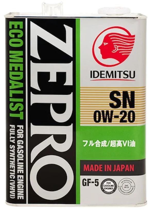 Синтетическое моторное масло IDEMITSU Zepro Eco Medalist 0W-20 4 л
