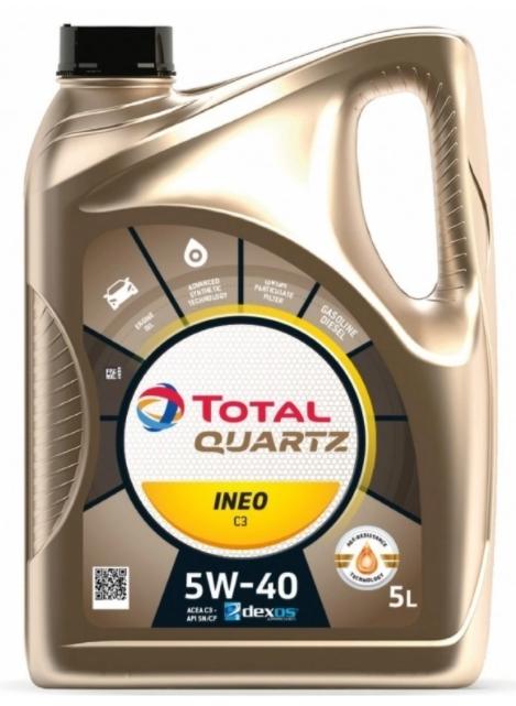 Моторное масло TOTAL Quartz INEO C3 5W-40 синтетическое 5л
