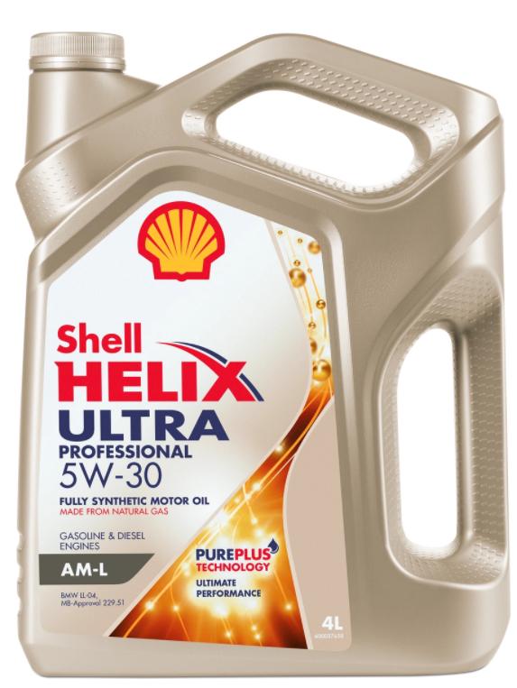 Синтетическое моторное масло SHELL Helix Ultra Professional AM-L 5W-30 4 л