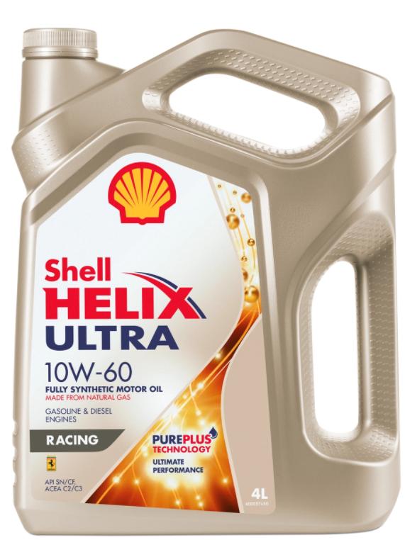 Моторное масло SHELL Helix Ultra Racing 10W-60 синтетическое 4 л