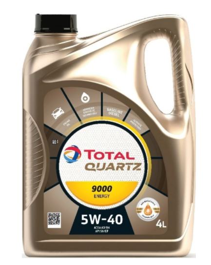 Моторное масло TOTAL Quartz 9000 Energy 5W-40 синтетическое 4 л