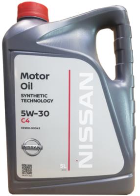 Моторное масло Nissan 5W-30 C4 синтетическое 5 л