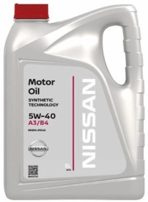 Моторное масло Nissan 5W-40 A3/B4 синтетическое 5 л
