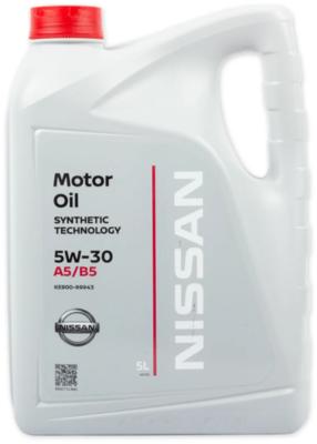 Моторное масло Nissan 5W-30 FS A5/B5 синтетическое 5 л