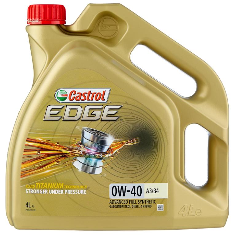 Моторное масло Castrol Edge 0W-40 A3/B4 синтетическое 4 л