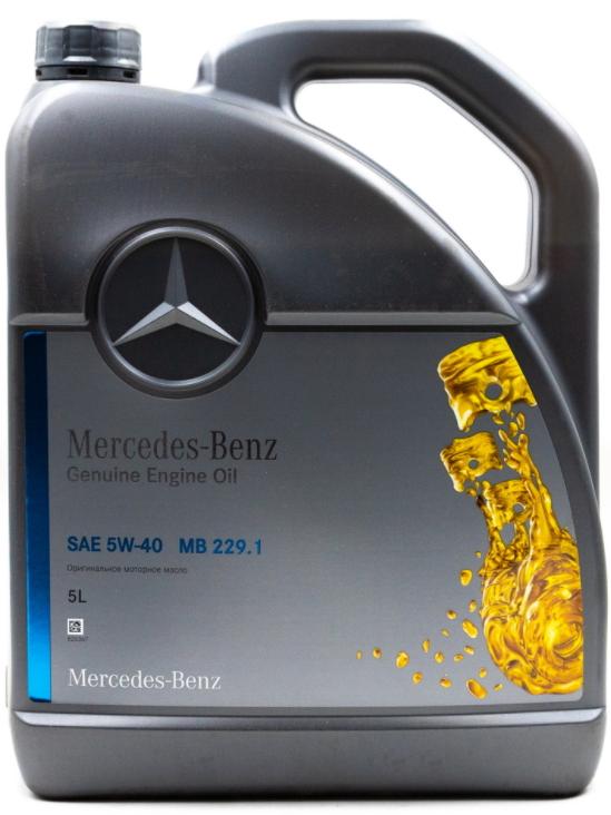 Моторное масло Mercedes-Benz MB 229.1 5W-40 синтетическое 5 л