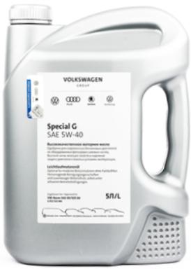 Моторное масло VOLKSWAGEN Special G 5W-40 синтетическое 5 л