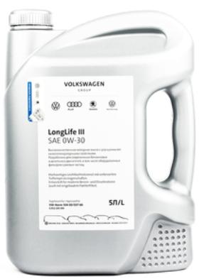 Моторное масло VOLKSWAGEN LongLife III 0W-30 синтетическое 5 л