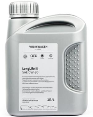 Моторное масло VOLKSWAGEN LongLife III 0W-30 синтетическое 1 л