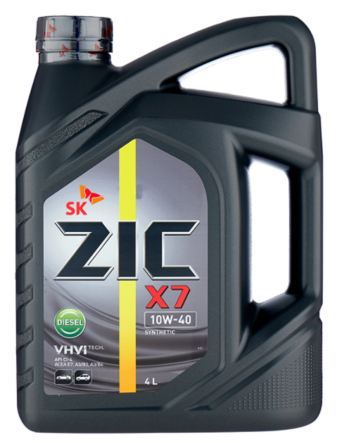 Моторное масло ZIC X7 Diesel 10W-40 синтетическое 4 л