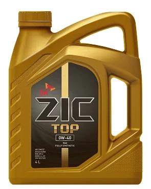 Моторное масло ZIC TOP 0W-40 синтетическое 4 л