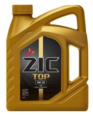 Моторное масло ZIC TOP 5W-30 синтетическое 4 л