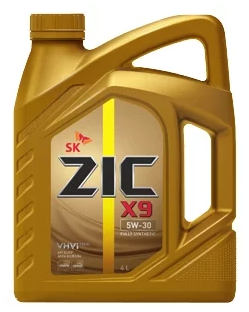Моторное масло ZIC X9 5W-30 синтетическое 4 л