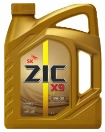 Моторное масло ZIC X9 LS 5W-30 синтетическое 4 л