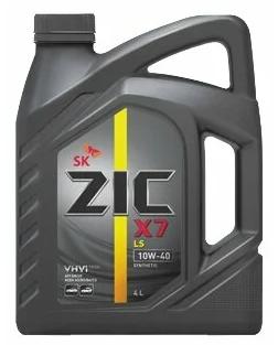 Моторное масло ZIC X7 LS 10W-40 синтетическое 4 л