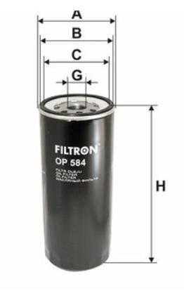 Фильтр масляный FILTRON OP584