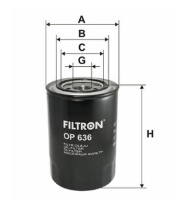 Фильтр масляный FILTRON OP636