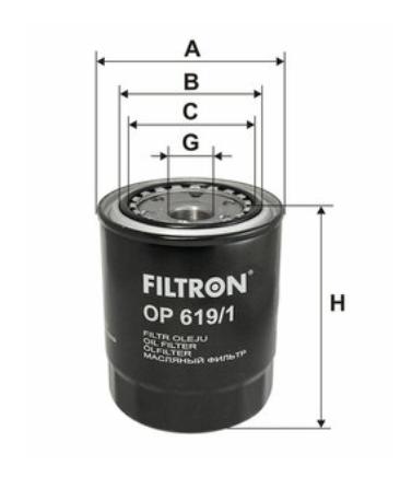 Фильтр масляный FILTRON OP619/1